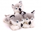 Mobile Preview: Plüschhund Husky Baby 29cm - liegend